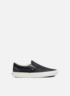 Vans - Classic Slip-On Perforated Leather, Black/White 1