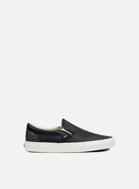 sneakers vans classic slip on perforated leather black white
