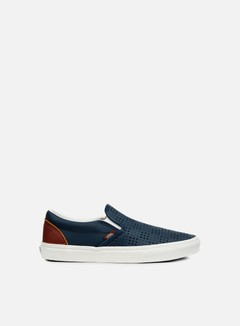 Vans - Classic Slip-On Perforated Leather, Dress Blue/White