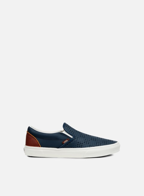 sneakers vans classic slip on perforated leather dress blue white