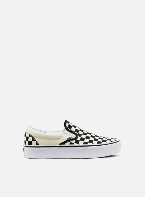 sneakers vans classic slip on platform checkerboard white