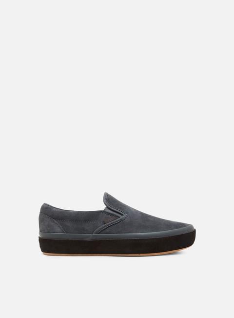 sneakers vans classic slip on platform suede outsole asphalt