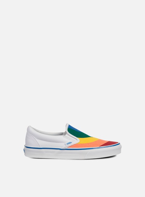 sneakers vans classic slip on rainbow true white