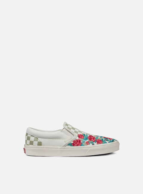 sneakers vans classic slip on rose embroidery marshmallow