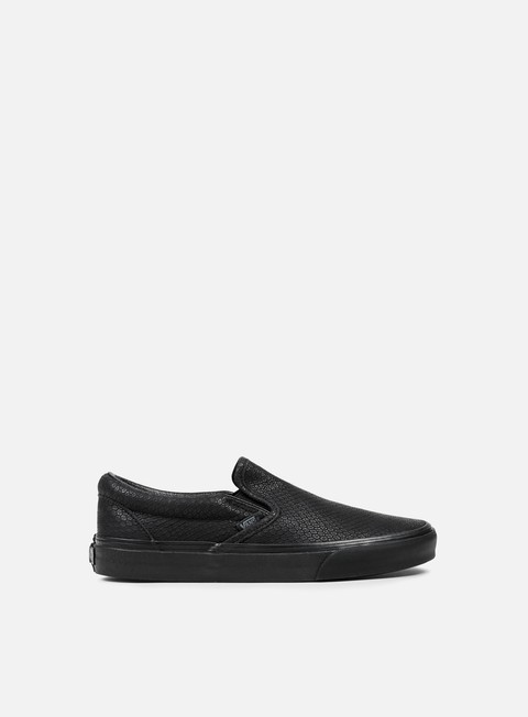 sneakers vans classic slip on snake leather black