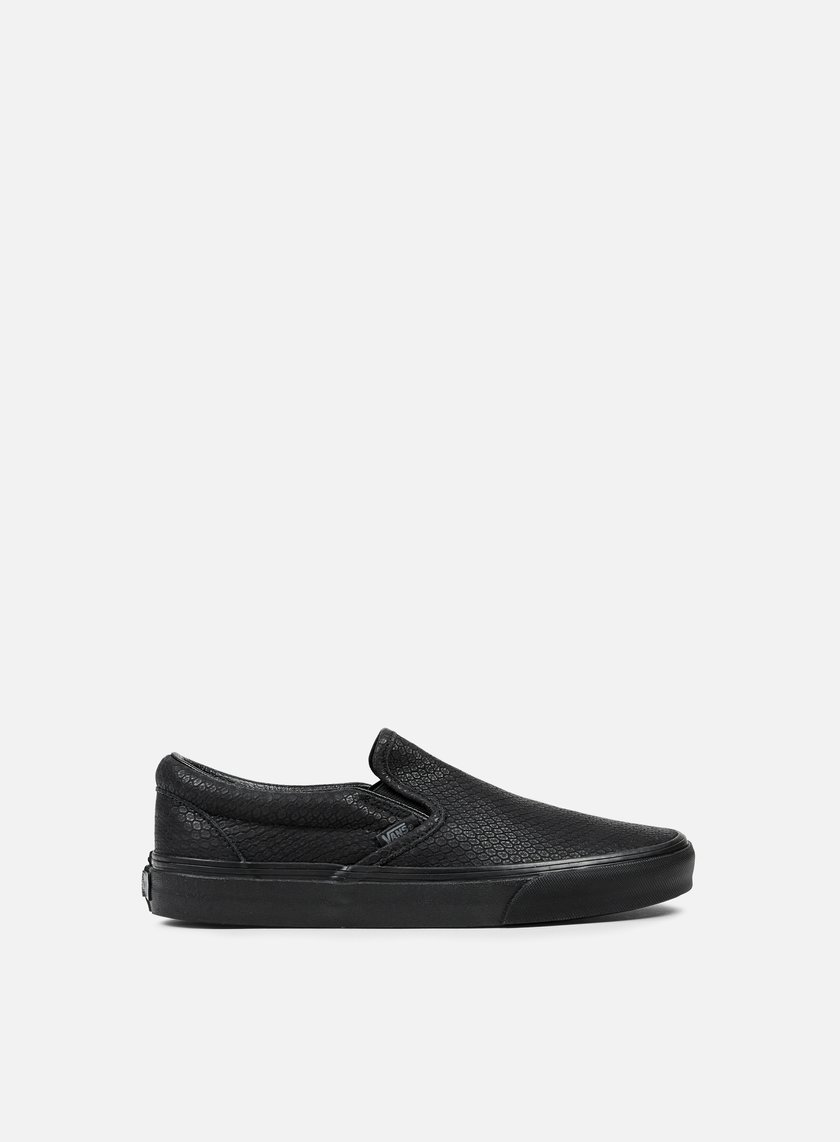 Vans - Classic Slip-On Snake Leather, Black