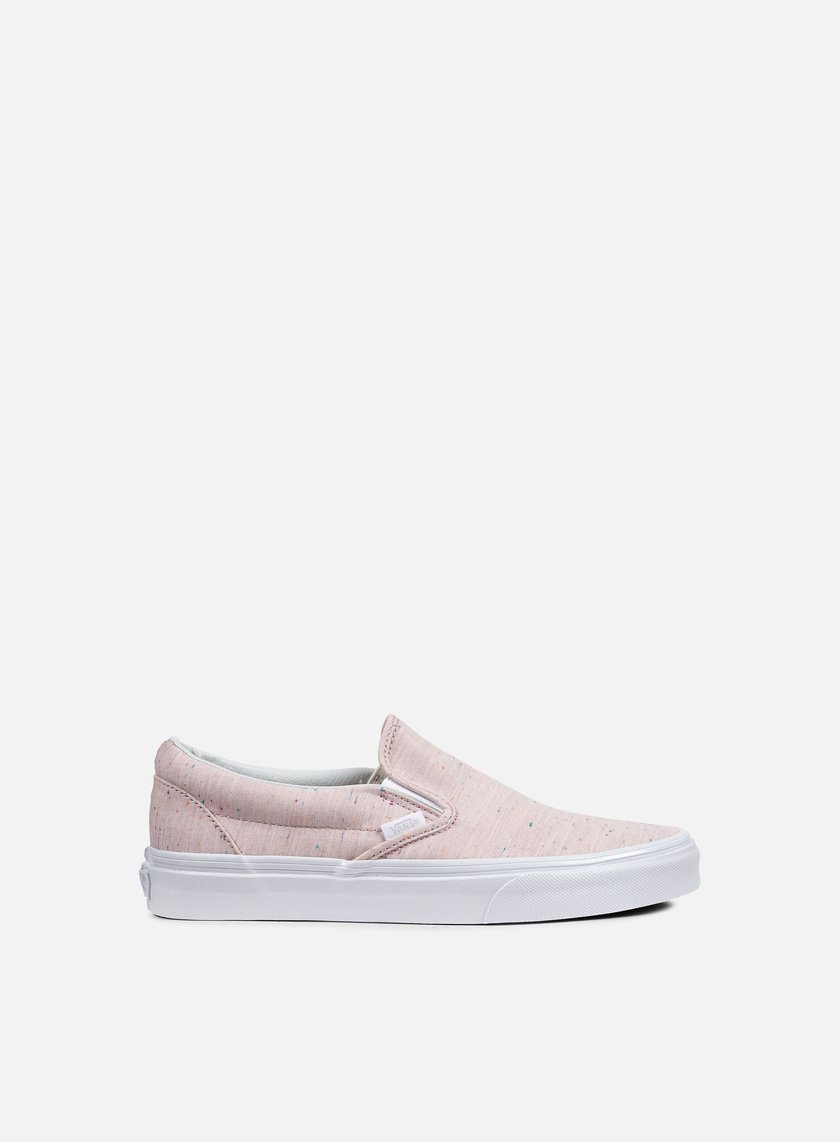 Vans - Classic Slip-On Speckle Jersey, Pink/True White