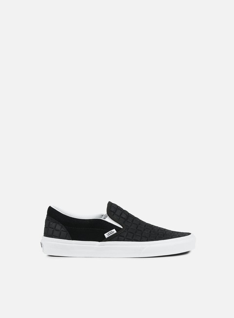 sneakers vans classic slip on suede checkers black