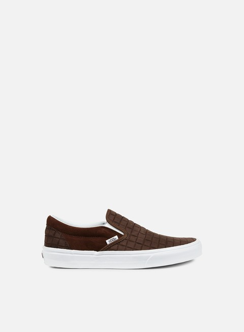 sneakers vans classic slip on suede checkers chestnut