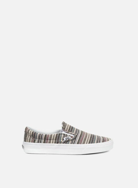 Outlet e Saldi Sneakers Basse Vans Classic Slip-On Textile Stripes