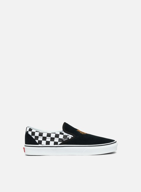 sneakers vans classic slip on tiger check black true white