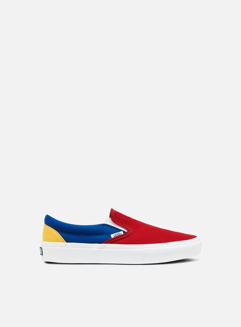 sneakers vans classic slip on vans yacht club red blue