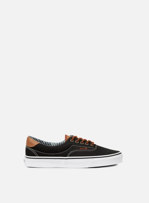 sneakers vans era 59 c and l black stripe denim