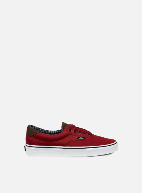 sneakers vans era 59 cord e plaid red dahlia