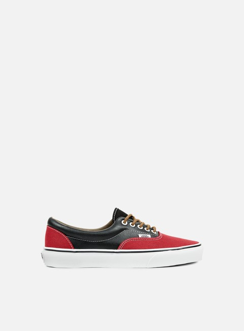 sneakers vans era leather plaid rhubarb black