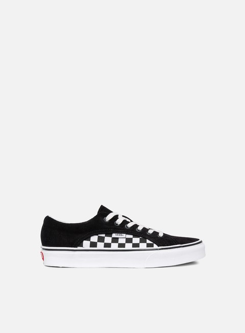 sneakers vans lampin checker cord black true white