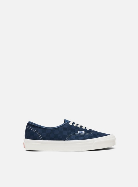 sneakers vans og authentic lx canvas suede checkerboard blue