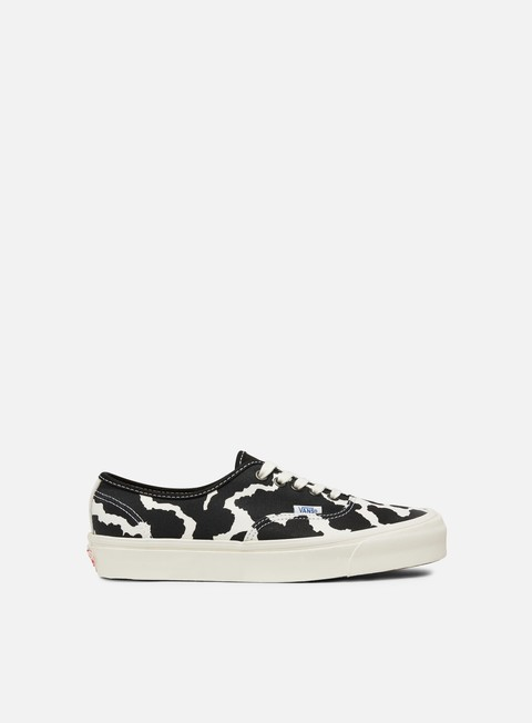 sneakers vans og authentic lx canvas suede cow black