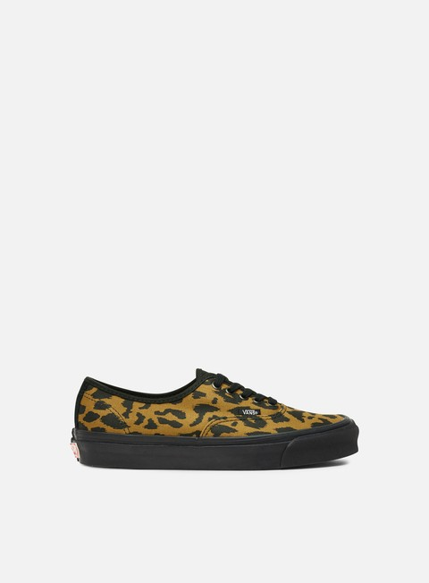sneakers vans og authentic lx canvas suede leopard black