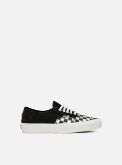 Vans - OG Authentic LX Suede/Canvas, Black/Checkerboard