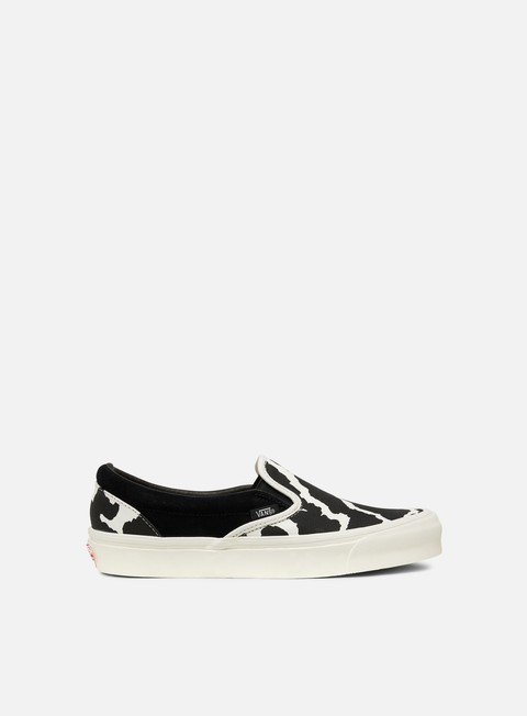 sneakers vans og classic slip on suede canvas black cow