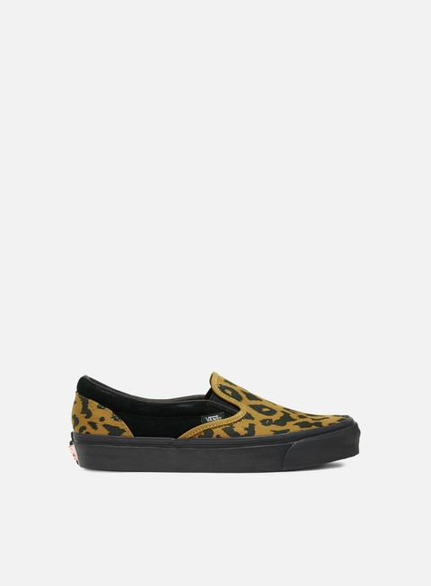 sneakers vans og classic slip on suede canvas leopard black