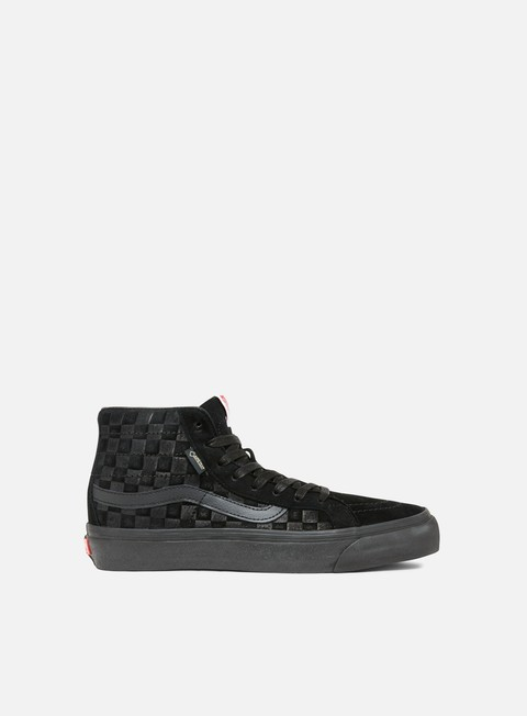 sneakers vans og sk8 hi gtx lx checkerboard black