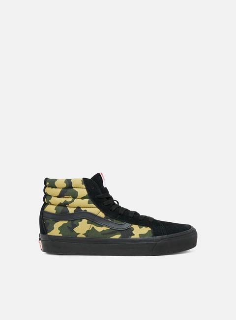 sneakers vans og sk8 hi lx suede canvas camo black