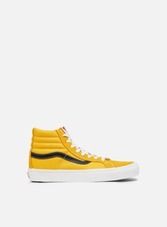 Vans - OG Sk8 Hi LX Suede/Canvas, Old Gold/Black