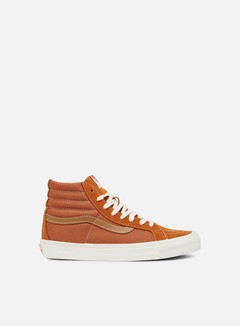 Vans - OG Sk8 Hi LX Suede/Canvas, Rust/Chipmunk