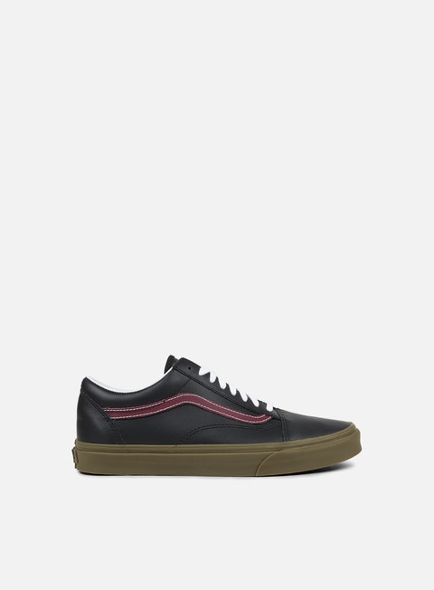 sneakers vans old skool bleacher black port gum