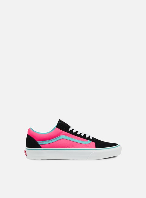 sneakers vans old skool brite black neon pink