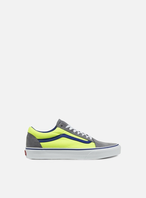 sneakers vans old skool brite frost grey neon green