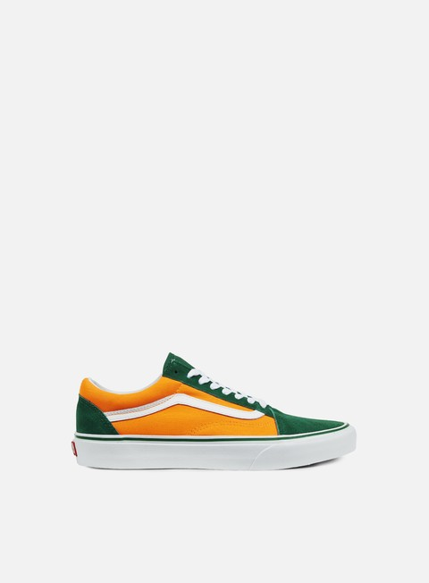 sneakers vans old skool brite verdant green neon orange
