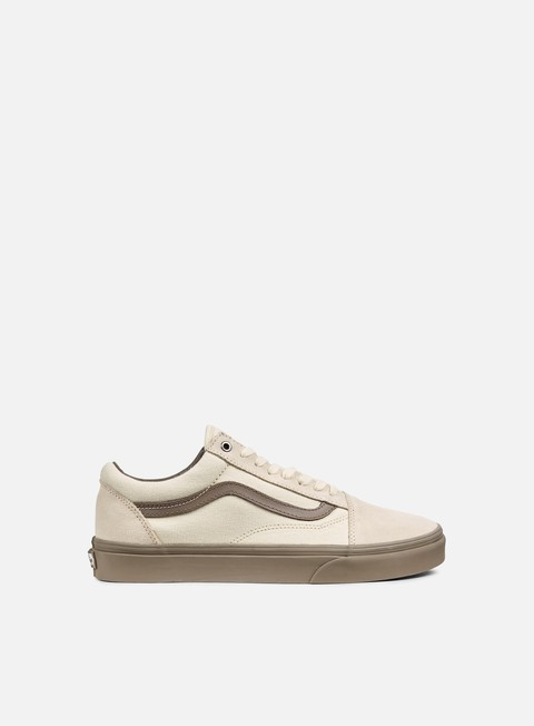 sneakers vans old skool c and d cream walnut