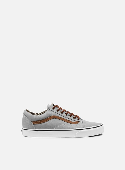 sneakers vans old skool c and l silver sconce stripe denim