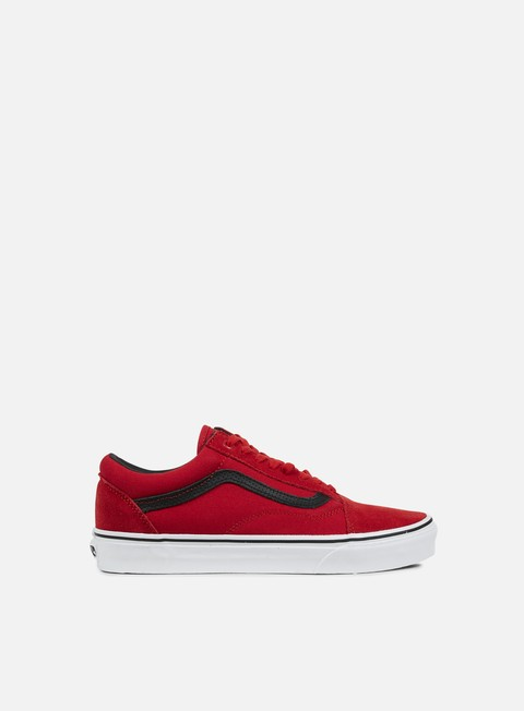 sneakers vans old skool c and p racing red black