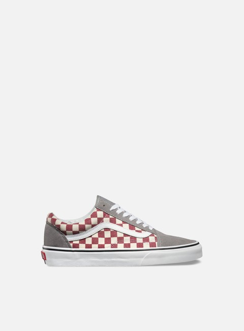 sneakers vans old skool checkerboard frost grey rhubarb