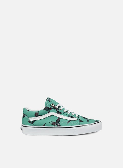 sneakers vans old skool dirty bird turquoise true white