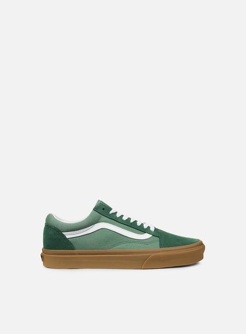 sneakers vans old skool duck green gum