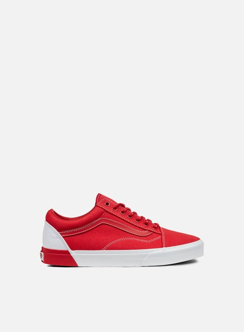 sneakers vans old skool dx blocked true white racing red