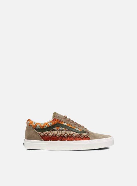 sneakers vans old skool dx suede knit walnut