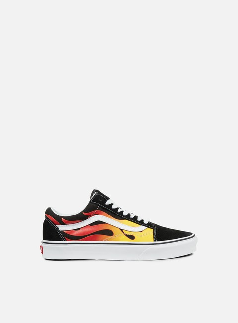 sneakers vans old skool flame black black true white