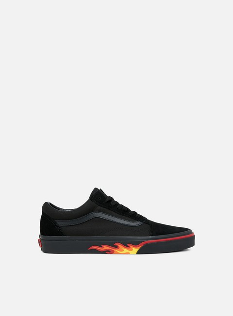 sneakers vans old skool flame wall black black