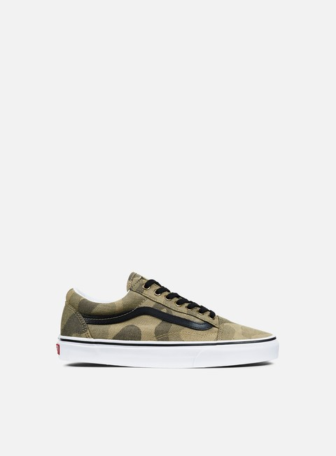 sneakers vans old skool jacquard camouflage raven true white