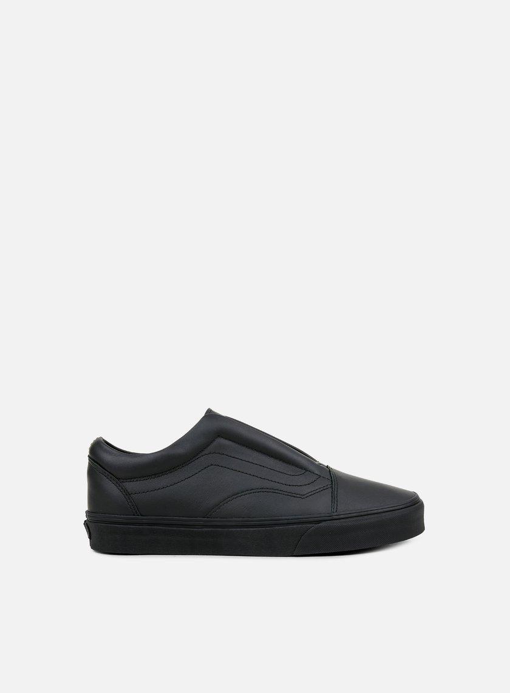 Vans Old Skool Laceless Leather, Black