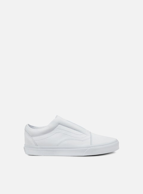 sneakers vans old skool laceless leather true white