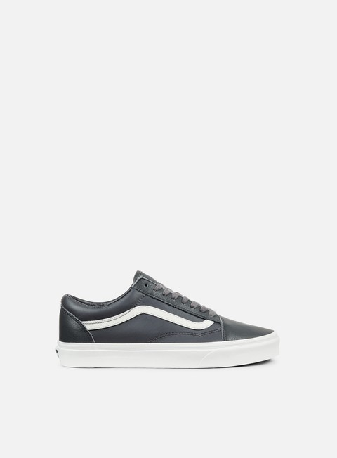 sneakers vans old skool leather asphalt blanc de blacn