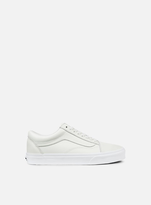 sneakers vans old skool leather blanc de blanc