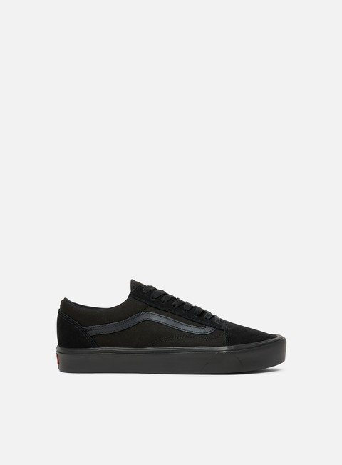 sneakers vans old skool lite suede canvas black black